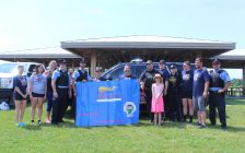 30th Ontario Law Enforcement Torch Run for Special Olympics. June 17, 2017. (Photo courtesy of Sarah Cowan Blackburn News Chatham-Kent).