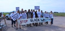 Peaceful Water Wells First protest at 9568 Darrell Line. June 22, 2017. (Photo by Paul Pedro)