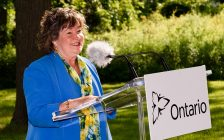 Minister Kathryn McGarry makes the announcement Wednesday at the Grand River Conservation Authority (photo submitted)