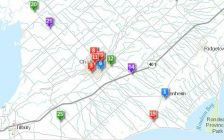 Infrastructure online tracking tool on the municipality of Chatham-Kent's website. June 7, 2017. (Screen shot taken from http://www.chatham-kent.ca)