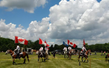 The Silver Stars Drill Team performs at the Thamesville Threshing Festival. June 2017. (Photo courtesy of the Thamesville Threshing Festival via Facebook)