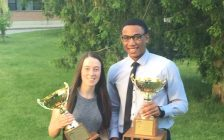 Brooke MacKinnon and Anthony Atkinson, the 2017 winners of the Dr. Jack Parry Award. (Photo courtesy of CKSS via. Twitter)