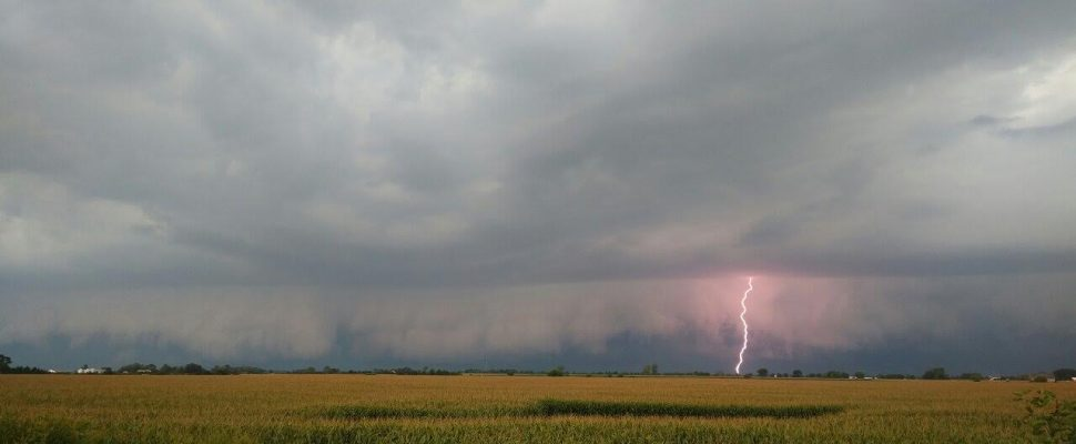 A thunderstorm over Hillman Marsh. (File photo courtesy of Robert Longphee)