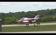 The Snowbirds will perform over Walkerton and Hanover as they take off from the Saugeen Municipal Airport on June 21, 2017. (Photo by Kirk Scott)