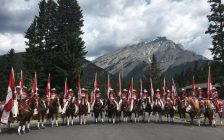 The Canadian Cowgirls pose for a photo in Banff, Alberta. July 2017. (Photo courtesy of the Canadian Cowgirls via Facebook)