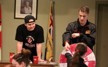 Brayden Hopkins (left) and Kier Cumming. (Photo courtesy of the Blenheim Blades)