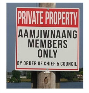 Fishing along the St. Clair River through Aamjiwnaang First Nation is being limited to its members only. July, 21, 2017 (Photo courtesy of Aamjiwnaang First Nation)