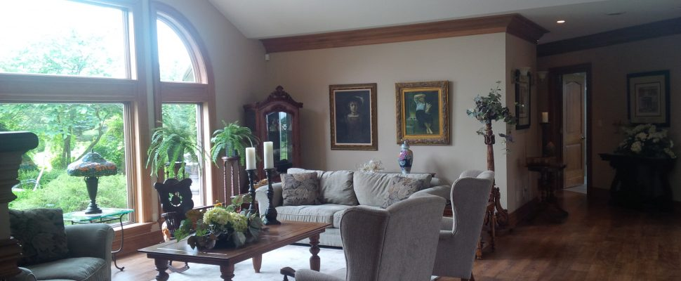 Interior shot of the proposed Huron Residential Hospice near Clinton. (photo by Bob Montgomery)