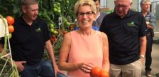 Ontario Premier Kathleen Wynne tours Truly Green Farms in Chatham. July 27, 2017. (Photo by Paul Pedro)