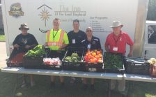 Volunteers & staff at The Inn's Mobile Market visit 14 locations every week throughout Sarnia-Lambton distributing fresh produce. (Photo courtesy of Myles Vanni)