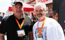 Co-Chairs of the Classic Car Show Ove Hansen (L) and Phil Myers. (Photo by Campbell Cork)