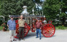 A Blenheim man has restored a 1897 fire steam engine from Dawson City, Yukon. July 17, 2017. (Photo by Paul Pedro)