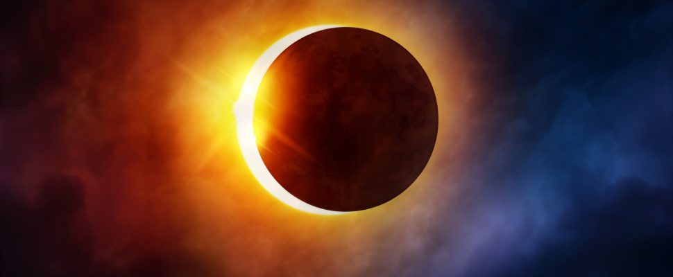Solar Eclipse. (Photo by © Can Stock Photo / solarseven)