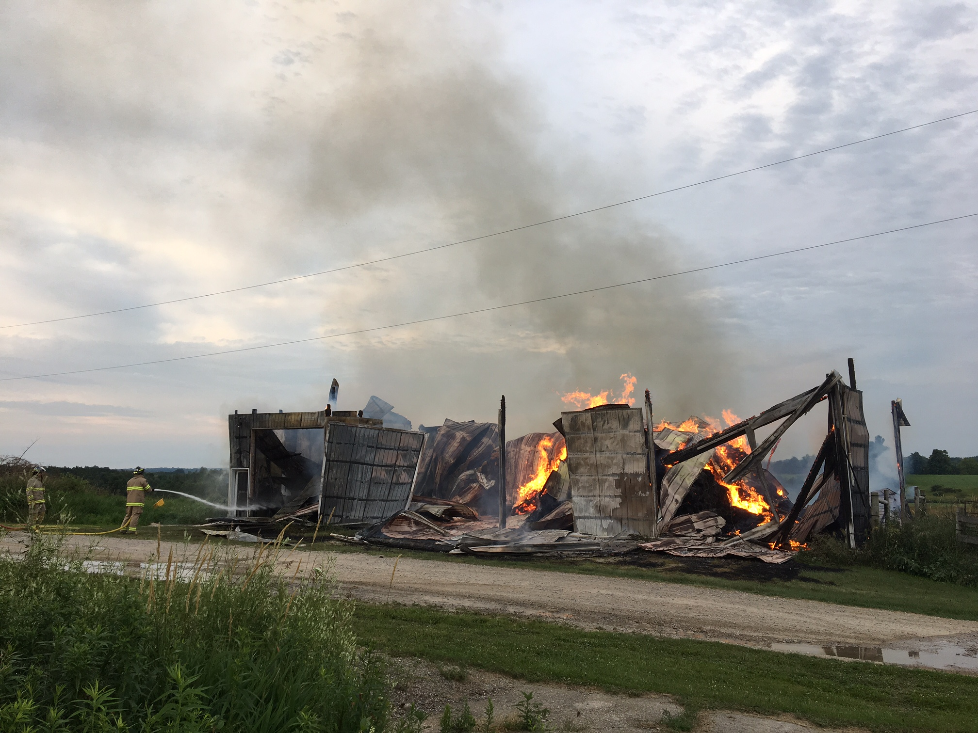 Barns, Home Damaged By Fires In Wellington County