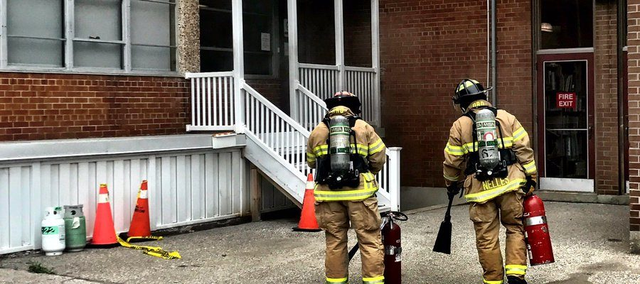 Sarnia Fire Crews Respond To A Fire At Sarnia Library - July 13/17 (Photo Courtesy of Sarnia Fire via Twitter)