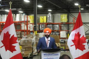 Science, Technology and Economic Development Minister, Navdeep Bains in Windsor July 31, 2017. (Photo by Adelle Loiselle)