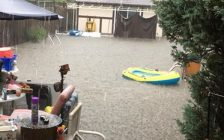 Windsor residents deal with widespread flooding in the city, August 29, 2017. (Photo courtesy of Dora Amelia Belanger)