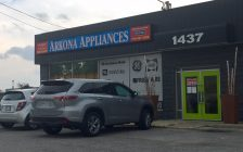 Arkona Appliances location on London Rd. in Sarnia. August 2017 (Photo by Melanie Irwin)