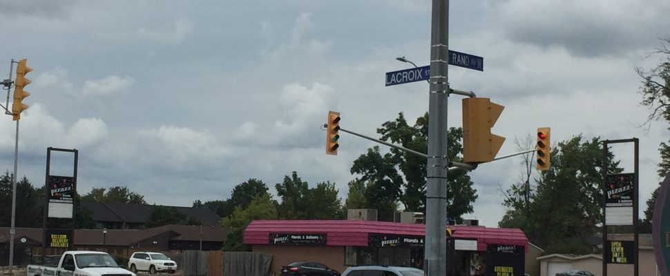 The intersection of Grand Ave. W. and Lacroix St. August 27, 2017. (Photo by Matt Weverink)