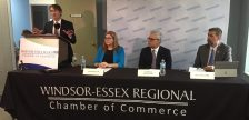 The Windsor Essex Regional Chamber of Commerce holds a news conference on PACA, August 22, 2017. (Photo by Maureen Revait)