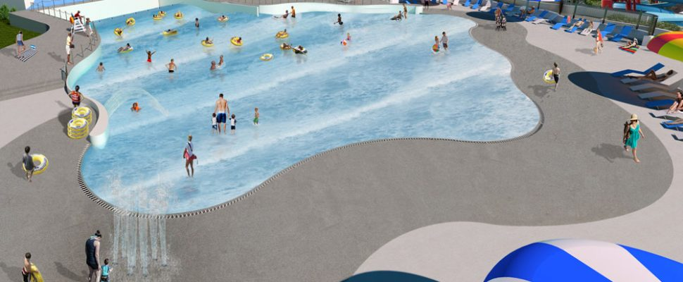 Artist rendering of a new wave pool at London's East Park. Photo courtesy of East Park.