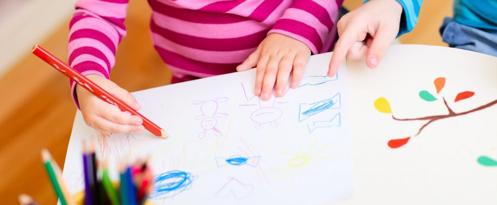 Generic photo of kids drawing. (Photo by© Can Stock Photo / shalamov)