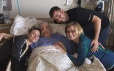 A photo of Don Brunelle surrounded by his family while recovering in the hospital courtesy of Brenda Brunelle.
