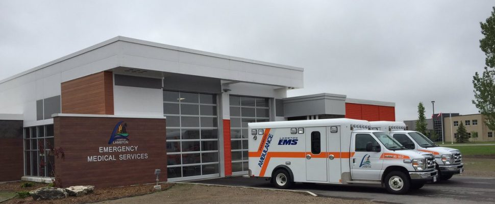 The new Forest EMS and OPP Station. May 26, 2017 (Photo by Melanie Irwin)