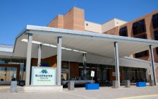 Main entrance at Bluewater Health's Sarnia hospital. Photo by Meghan Bond.