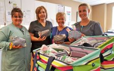 Comfort kits donated to CKHA in August. (Photo courtesy of Foundation of Chatham-Kent Health Alliance)