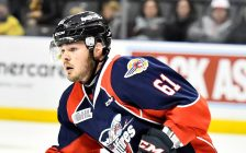 Luke Boka of the Windsor Spitfires. (Photo courtesy of Aaron Bell via OHL Images)
