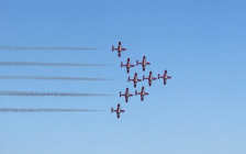 The the Canadian Forces Snowbirds Demonstration Team perform at Airshow London, September 24, 2017. Photo courtesy of Becky Malacaria.