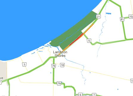 Lanes Reopened On Hwy. 21 In Lambton Shores