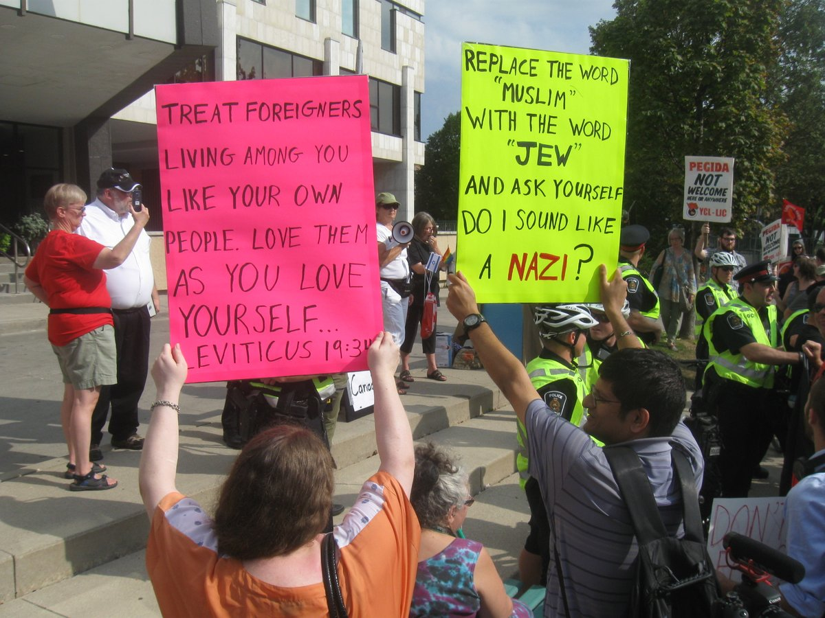 Two Arrested At London City Hall Demonstration