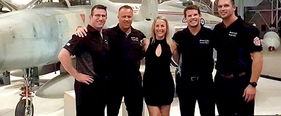 Bruce Power participants in the 2017 Canadian National FireFit Finals were from left: Nathan Perrott , Donnie Mertes, Kathryn Harding, Justin Clarke and Joel McFadden.