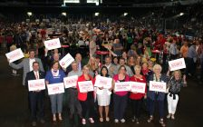 United Way officials kick off their annual fundraising campaign at the Harvest Lunch at Budweiser Gardens, September 20, 2017. Photo courtesy of the United Way.