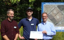 Union Gas cheque presentation at LTVCA Trail unveiling at Walter Devereux Conservation Area. September 20 2017. (Photo by Sarah Cowan Blackburn News Chatham-Kent).