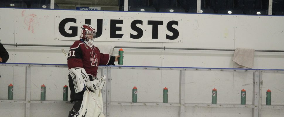Chatham Maroons goaltender Ryan Wagner. (Photo by Matt Weverink)