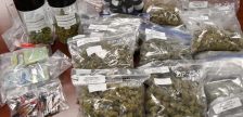 Drugs and cash seized by police during at raid of a pot dispensary on Richmond Row, September 20, 2017. Photo courtesy of London police.