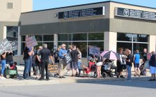 PAD: Parents of Adult Children with Disabilities Windsor/Essex Group rally outsite the Ministry of community and Social Services, September 22, 2017. (Photo by Maureen Revait)