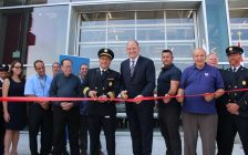 Ribbon cutting at Windsor Fire Station 6 and the new emergency command centre, September 21, 2017. (Photo by Maureen Revait)