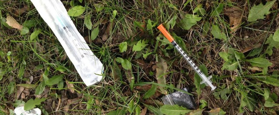 Discarded Used Needles. (Photo by BlackburnNews)