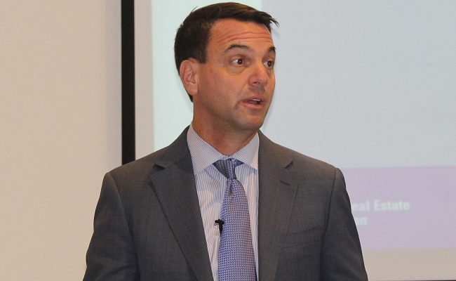 Tim Hudak at the Chatham EMERGE conference. October 4, 2017. (Photo Sarah Cowan Blackburn News Chatham-Kent).