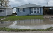 Flooded yards at Erie Shore Dr. in near Erieau, Oct. 25, 2017. (Photo by Paul Pedro)