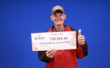 Instant Bingo winner Frank Woodhouse of Grand Bend. Submitted photo.