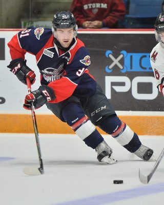 Aaron Luchuk of the Windsor Spitfires. (Photo courtesy of Terry Wilson via OHL Images)