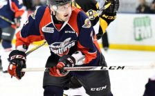 Hayden McCool of the Windsor Spitfires. Photo courtesy of Aaron Bell via OHL Images)