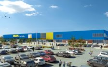 Artist rendering of the planned full-sized IKEA store in London submitted by IKEA Canada.
