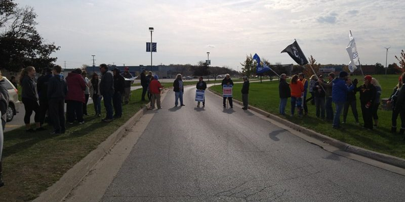 Rally at Lambton College. October 27, 2017 (Photo by Colin Gowdy)