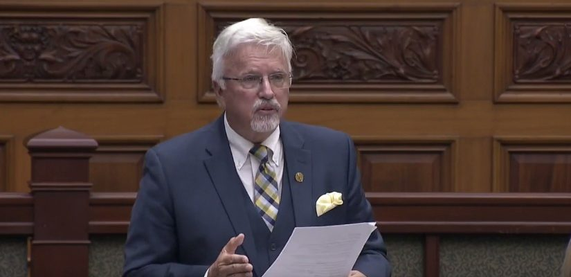 Chatham-Kent-LeamingtonMPP Rick Nicholls at the Ontario Legislature, October 4, 2017. (Photo courtesy of the Ontario Legislature via YouTube)